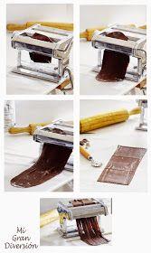 Mi Gran Diversión: Canelones de chocolate con frambuesa (pasta fresca)