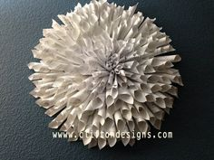 Handmade Paper Flower Wall Decor - You PICK a color & SIZE (wreathe)  NEW LOW PRICES!