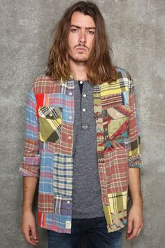 Urban Outfitters - Denim & Supply RL Patchwork Work Shirt