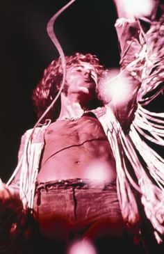 Roger Daltrey of The Who at Woodstock 1969