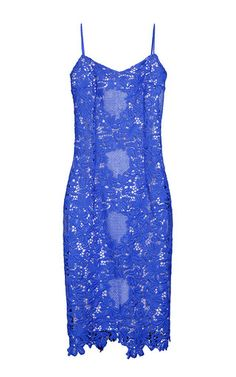 This **Yanina** dress features an eyelet lace fabric construction and a fitted…