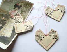 Valentine Origami Heart gift tags