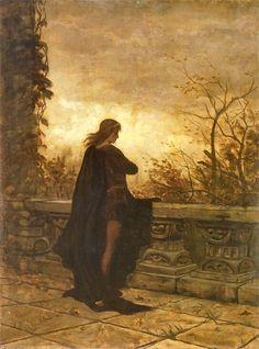 Aleksander Gierymski Hamlet, 1870 Nocturne, The Rest Is Silence, Prince, Pre Raphaelite, Old Master, Art And Illustration, Gods And Goddesses, Traditional Art, Great Artists