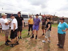 Besammlung KITA Nkululeko Südafrika Orange Farm