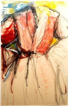 Jim Dine A Bath Robe in New York City Jim Dine, Pop Art Movement, Working Drawing, Collage Techniques, Gcse Art, Abstract Expressionism, Pastels, New York City, Artworks