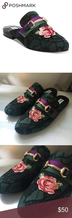Steve Madden Floral Loafers Never worn! Brand new. Run small. Steve Madden Shoes Flats & Loafers