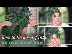 How to Tie a Head Scarf Ways To Tie Scarves, How To Wear Scarves, Scarf Hairstyles, African Hairstyles, Hair Scarf Styles, Long Hair Styles, Losing Hair Women, Head Scarf Tying, African Head Wraps
