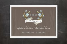 Woodland Save the Date Postcards by Kristie Kern at minted.com