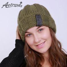 9273c35ee86 AETRENDS  2017 New Winter Beanie Hats for Women Warm Knitted Caps Beanies Z -5991