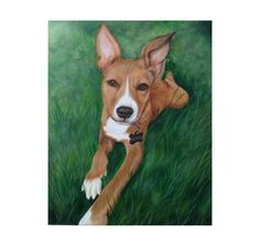 16x20 Large custom pet portrait painting on canvas by SwishAndWag