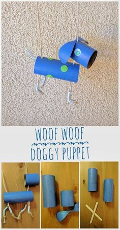 Dog Puppet Craft made with my tot using empty toilet paper roll. To the memory of all the wonderful dogs driven happiness in our tot's and our life.