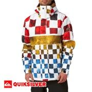 Quiksilver Next Mission Printed Snow Jacket - Dna Snow Tomato