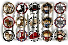 Giddy Up Cowboy Digital Bottle Cap Images by adorablemedesign, $1.50