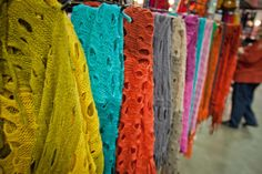 Scarves: I can't wait to see products like this at An Affair of the Heart of Tulsa.