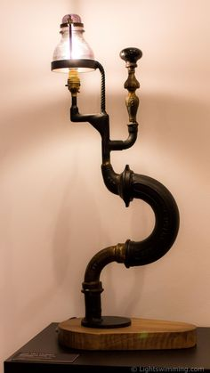 Steampunk lamp, by Jos Van Hulsen                                                                                                                                                                                 More