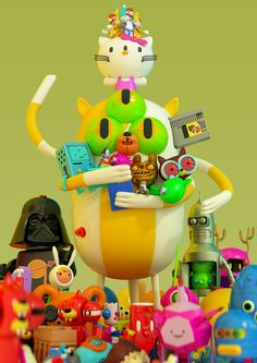3D Plastic Mutant Toys Nation