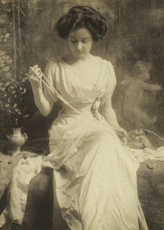 Frank Eugene, The pearl necklace, 1900s