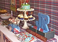 Sports Party Dessert Table