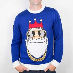 Bling Santa Christmas Jumper from Funky Christmas Jumpers Ireland. Bling Santa is the ultimate must have Jumper this Christmas.