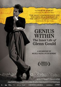 Genius Within The Inner Life of Glenn Gould Movie Poster x Movies To Watch, Good Movies, Bestival, Toronto Film Festival, Ingmar Bergman, English Movies, Music Humor, The New Yorker, Movies Online