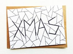 Xmas cards, Cards christmas, Happy new year cards, Holiday cards, Happy 2017, Geometric card, Unique christmas card, Funny holiday greetings