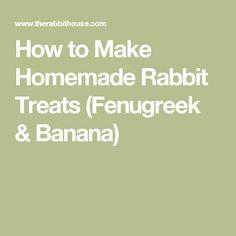 How to Make Homemade Rabbit Treats (Fenugreek & Banana)