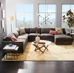 déco avec canapé gris moderne