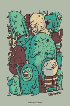An Odd Crowd + Illustrations | Greg Abbott