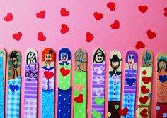 cute popsicle stick valentines