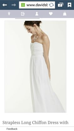 Love this chiffon dress for beach wedding!