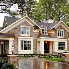 Nice exterior stone work #Curb Appeal
