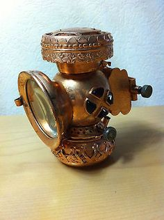 Josef Lucas Ltd. Microphote Antique Goldish-Copper Petroleum Bicycle Safety lamp in Collectibles | eBay