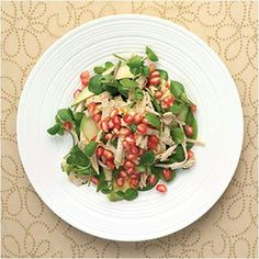 Turkey and Pomegranate Salad Recipe #stepbystep