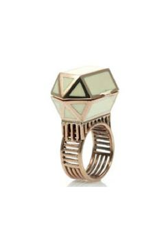 ELKE KRAMER RING OF OPTIMISM, HORN WITH ROSE GOLD PLATING