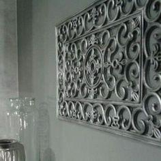 Rubber Door Mat Wall Art Diy Looks Like Cast Iron But A