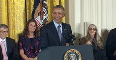 President Obama awards the Presidential Medal of Freedom to 21 recipients, including basketball player Kareem Abdul-Jabbar, Blackfeet tribal community leader Elouise Cobell, comedian Ellen DeGeneres,…