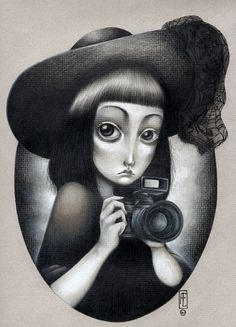 """sayamis: """" My piece for an upcoming small show about old cartoons. I decided to do Lydia Deetz from Beetlejuice, but with a little more inspiration in the Burton movie. Pencil color on paper. Hope you..."""