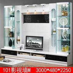 Lovely Source Living Room Furniture Lcd Tv Wall Unit Wood Led Tv Wall Unit Design  3D1 Modern