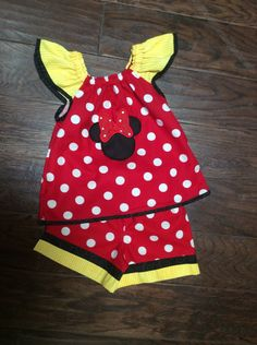 Disney Shirts and Shorts Minnie Mouse Outfit by BoogerbearPunkinpooh