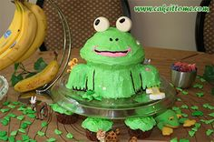 Cake Designs for Kids Birthdays - Frog Cake #cakedesigns