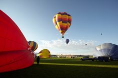 Getting an early start at the Albuquerque International Balloon Fiesta (AIBF).