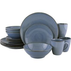 Sango Riva Teal 16-Piece Set - Casual Dining - Kitchen - Macy\'s SALE ...