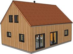 Surface Habitable, Construction, Shed, Outdoor Structures, How To Plan, Houses, Ceiling Height, Building, Barns