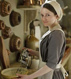 Sophie McShera as Daisy.  [Blog] 24 Things You Didn't Know About Downton Abbey, Fashions and Rugs