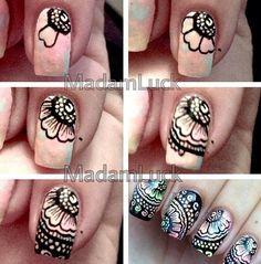 easy, galaxy nails, manicure, Nails, no tool nail art, simple
