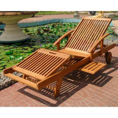 Add style and comfort to your patio or home decor with a Royal Tahiti chaise lounge . Lounge chair has elegant styling to add beauty to every poolside . Chaise lounge is crafted of solid yellow balau wood. Patio Chaise Lounge, Patio Chairs, Outdoor Lounge, Outdoor Decor, Lounge Chairs, Outdoor Pool, Indoor Outdoor, Restaurant Design, Central Park