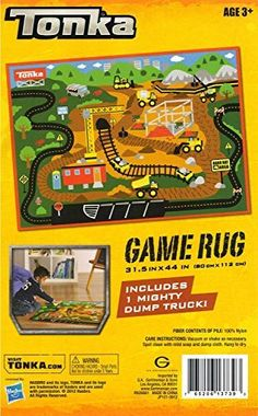 Tonka Game Rug Gravel Pit Includes 1 Mighty Dump Truck ** Want to know more, click on the image.Note:It is affiliate link to Amazon. #night