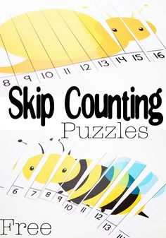 Free Printable Bug Skip Counting Puzzles - perfect for Spring
