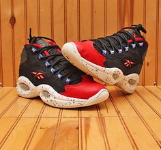 6c79f9f1e 2014 Reebok Iverson The Question 1 MID size 5 5Y Black Red White Blue M45722