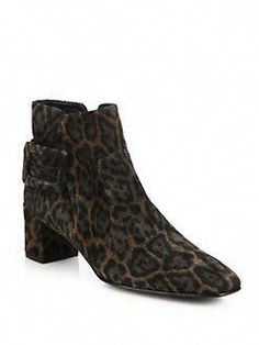 9864debfc20 Roger Vivier - Polly Leopard-Print Suede Block-Heel Booties  RogerVivier.  Fashion Designers